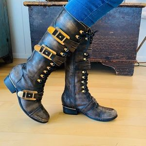 ♥️ Free People ♥️ Moto Leather Buckle Boots
